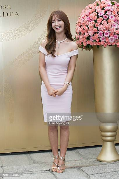 Kwon YuRi of Girls' Generation attends the photocall for BVLGARI 'Rose Goldea' Launch on August 2 2016 in Seoul South Korea