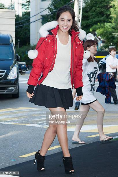 Kwon YuRi of South Korean girl group Girls' Generation attends during the 'Moose Knuckles' Korea Launching Show at Songeun Art Space on August 30...