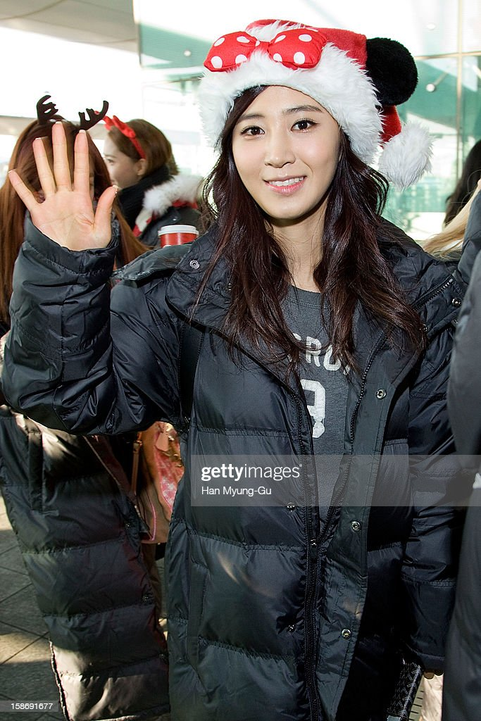 Kwon Yu-Ri (Yuri) of South Korean girl group Girls' Generation is seen at Incheon International Airport on December 24, 2012 in Incheon, South Korea.
