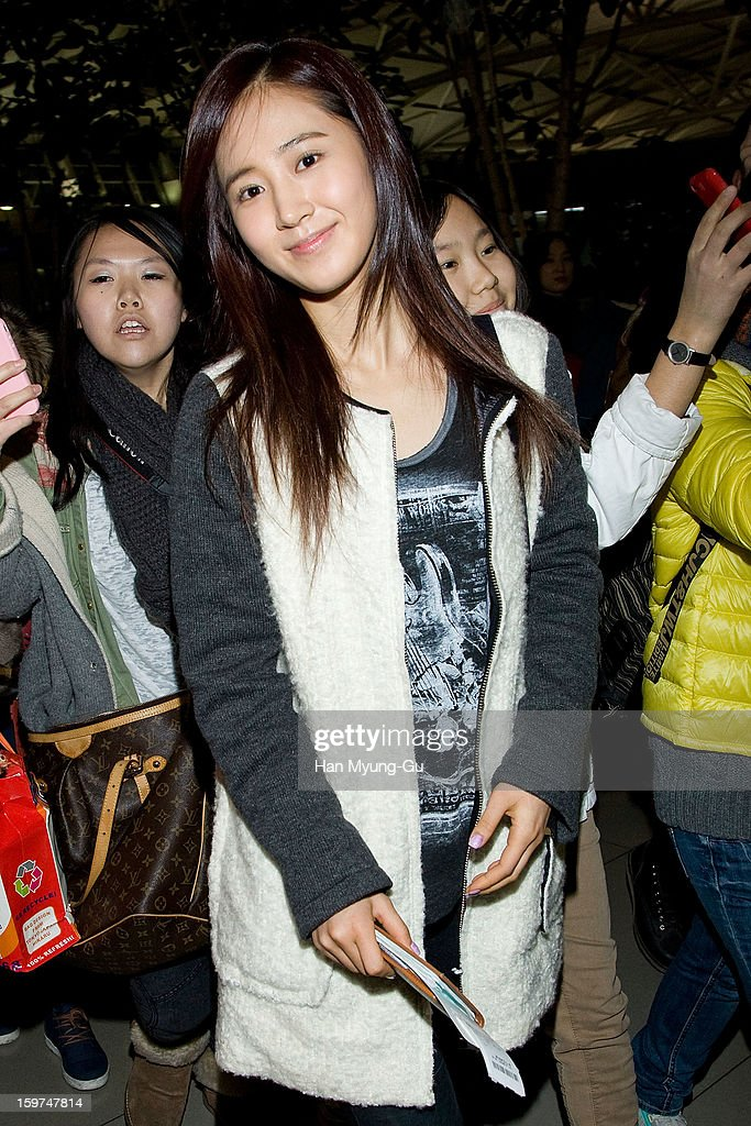 Kwon Yu-Ri (Yuri) of South Korean girl group Girls' Generation is seen at Incheon International Airport on January 19, 2013 in Incheon, South Korea.