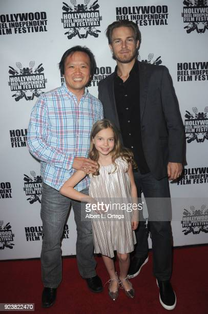 Kwong Lee Jilon Danover and Violet Hicks attend the 17th Annual Hollywood Reel Independent Film Festival Award Ceremony Red Carpet Event held at...