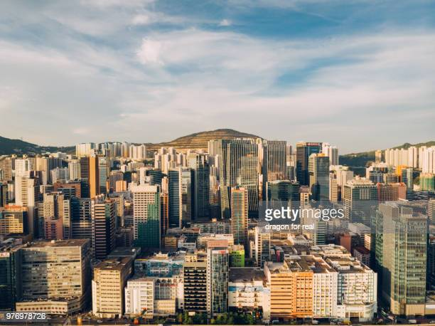 kwun tong overview - kowloon peninsula stock pictures, royalty-free photos & images