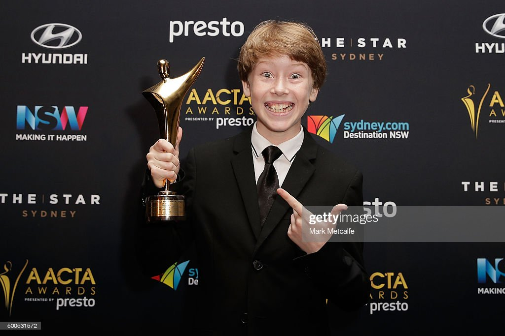 Ky Baldwin wins the AACTA Award for Best Guest or Supporting Actor in a Television Drama during the 5th AACTA Awards Presented by Presto at The Star on December 9, 2015 in Sydney, Australia.