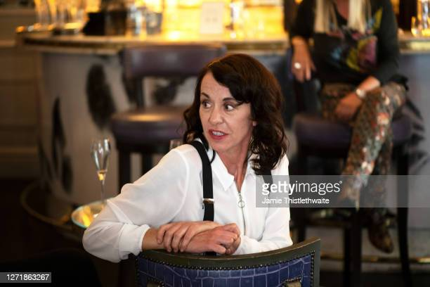 """Ky Holye listens to a question on the Cast and Crew panel during the """"Henpire"""" podcast launch event at Langham Hotel on September 10, 2020 in London,..."""