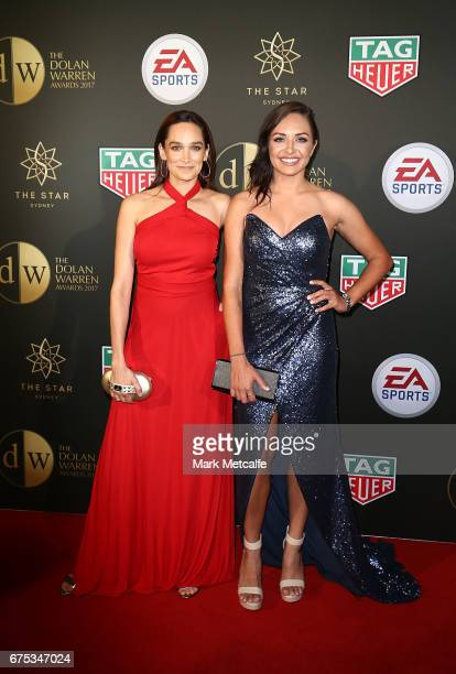 Kyah Simon and Nicole da Silva arrive ahead of the FFA Dolan Warren Awards at The Star on May 1 2017 in Sydney Australia