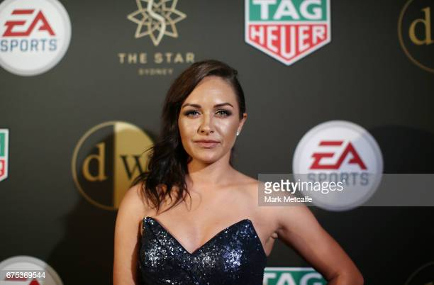 Kyah Simon arrives ahead of the FFA Dolan Warren Awards at The Star on May 1 2017 in Sydney Australia