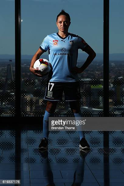 Kyah Simon of Sydney FC poses during the 2016/17 WLeague Season Launch on October 31 2016 in Sydney Australia