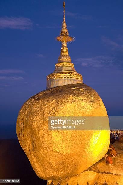 Kyaikhtiyo also called the golden rock is a well-known Buddhist pilgrimage site in Mon State, Myanmar.
