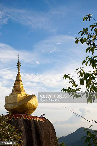CONTENT] Kyaikhtiyo also called the golden rock is a wellknown Buddhist pilgrimage site in Mon State Myanmar