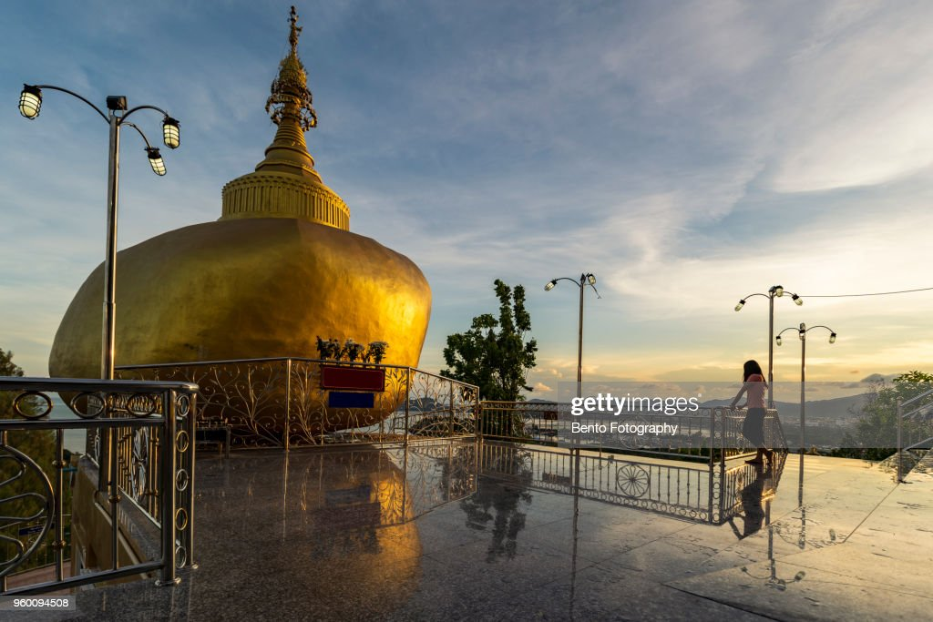 Kyaikhtiyo pagoda model in Phuket, Thailand : Stock-Foto