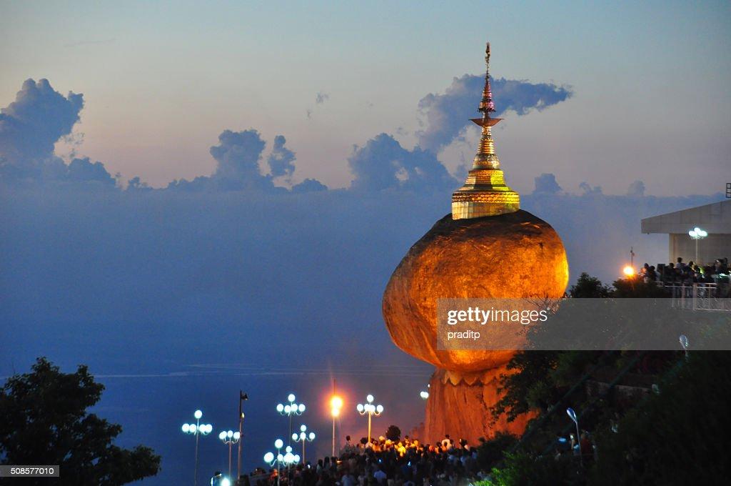 Kyaikhtiyo pagoda,Golden rock, Myanmar. : Stockfoto