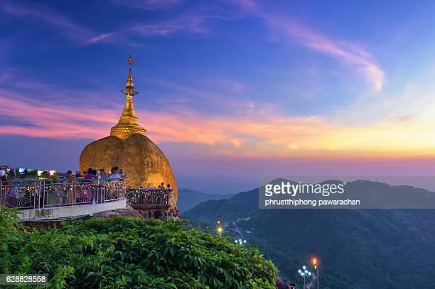 kyaiktiyo pagoda, or golden rock mon state, myanmar - myanmar stock pictures, royalty-free photos & images