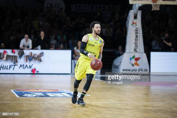 Kyan Anderson of medi bayreuth in action during the easyCredit BBL match between medi bayreuth and EWE Baskets Oldenburg at Oberfrankenhalle on May 5...