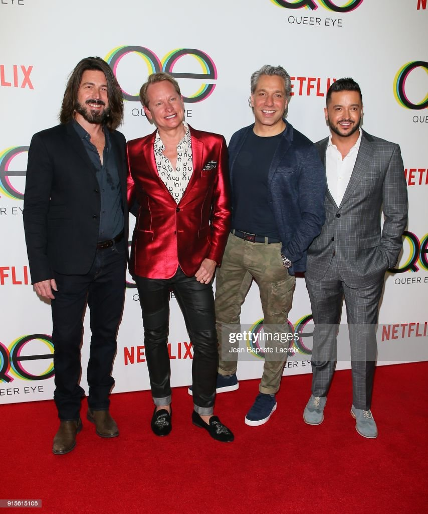 Kyan Douglas, Carson Kressley, Thom Filicia, and Jai Rodriguez attend the premiere of Netflix's 'Queer Eye' Season 1 at Pacific Design Center on February 7, 2018 in West Hollywood, California.