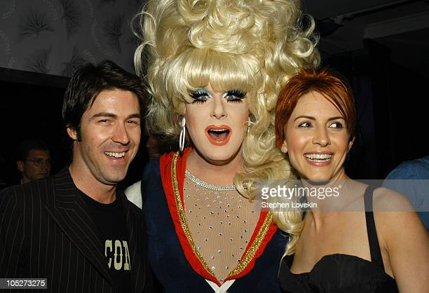 """Kyan Douglas, Lady Bunny, and Michelle Clunie at the Motorola-sponsored New York Premiere of Showtime's """"Queer as Folk"""""""