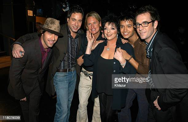 Kyan Douglas Thom Filicia Carson Kressley Jai Rodriguez and Ted Allen from 'Queer Eye For the Straight Guy' with Liza Minnelli