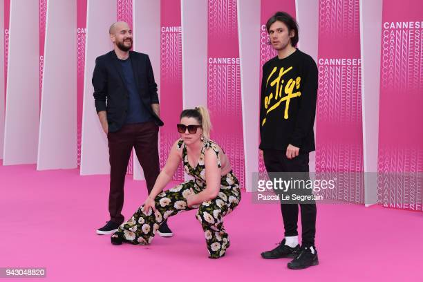 Kyan Khojandi and Orelsan attend the Launch of the Official Competition and 'The Truth About The Harry Quebert Affair' screening during the 1st...