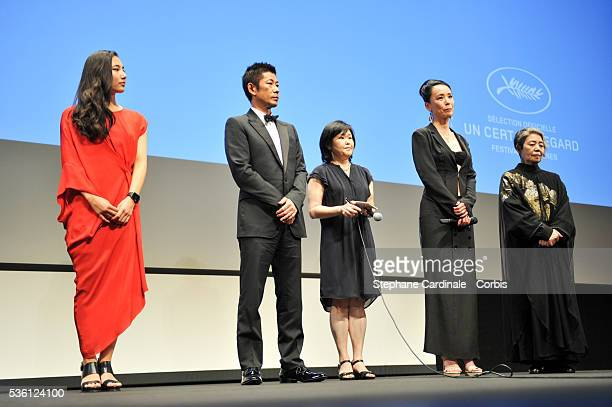 Kyara Uchida Masatoshi Nagase Guest Naomi Kawase and Kirin Kiki attend at the opening ceremony of Un Certain Regard with AN premiere during the 68th...