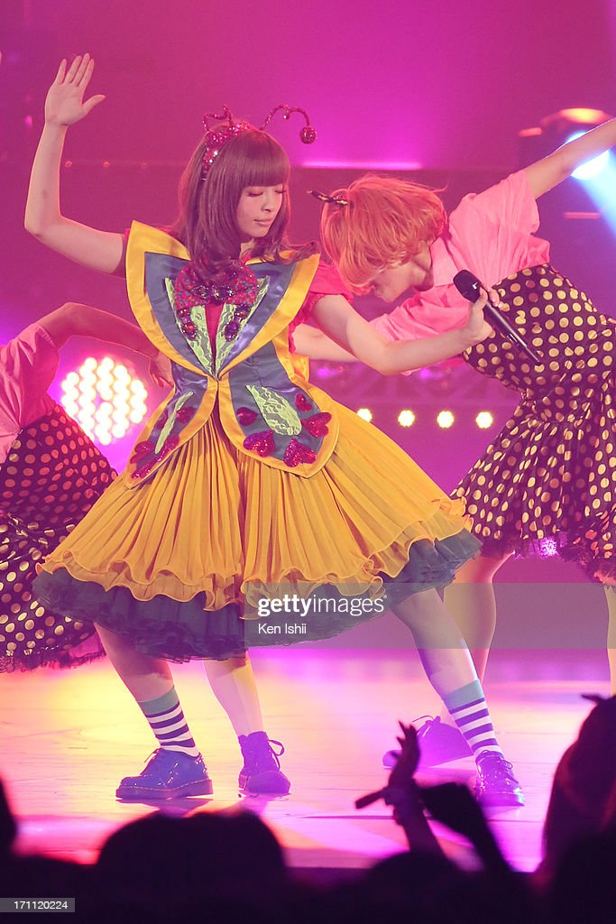 Kyary pamyu pamyu perfoms onstage during the MTV VMAJ 2013 at Makuhari Messe on June 22, 2013 in Chiba, Japan.