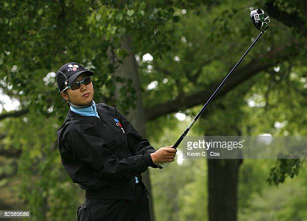 Kyeong Bae tees off the 16th hole during the second round of the 2007 Sybase Classic Presented by ShopRite at Upper Montclair Country Club on Friday...