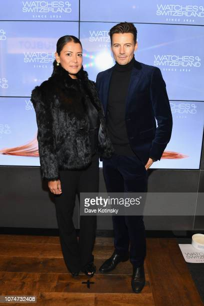 Kyett Lundqvist and Alex Lundqvist attend the launch party at Watches of Switzerland on November 29 2018 in New York City