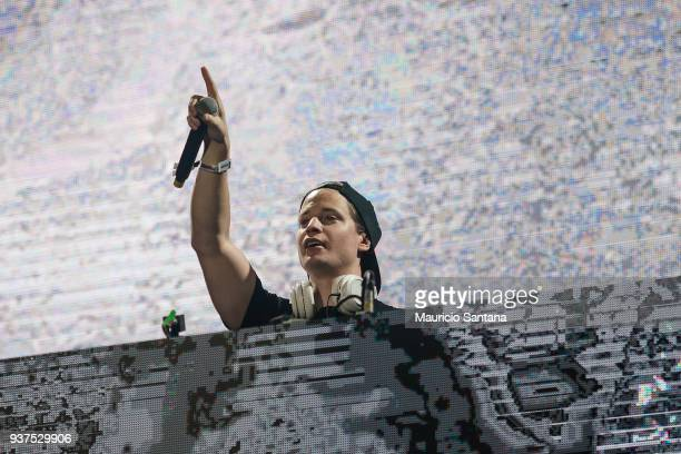 Kygo performs live on stage during the second day of Lollapalooza Brazil Festival at Interlagos Racetrack on March 24 2018 in Sao Paulo Brazil
