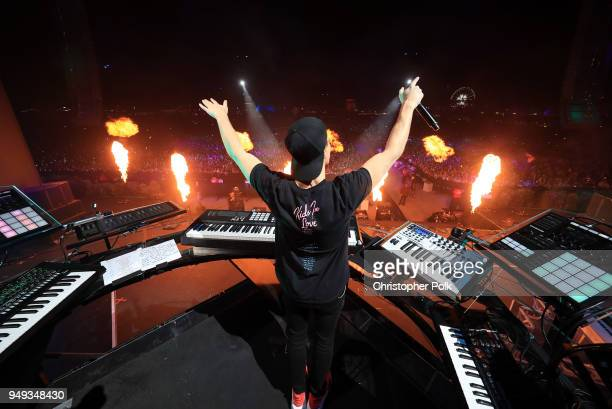 Kygo performs onstage during the 2018 Coachella Valley Music And Arts Festival at the Empire Polo Field on April 20 2018 in Indio California