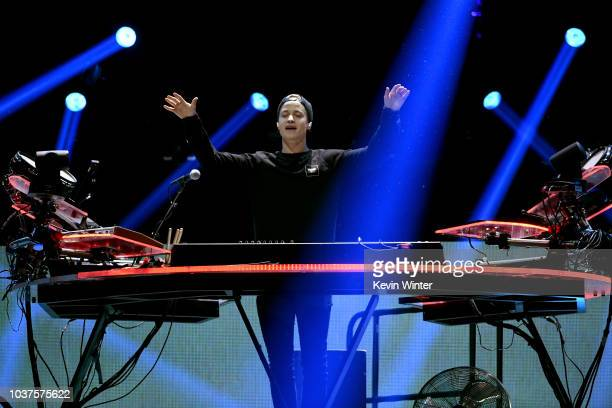Kygo performs onstage during the 2018 iHeartRadio Music Festival at TMobile Arena on September 21 2018 in Las Vegas Nevada