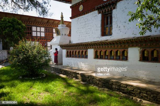 kyichu lhakhang in bhutan - paro district stock pictures, royalty-free photos & images