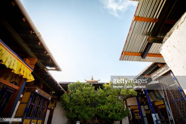 kyichu lhakhang temple, bhutan springtime - paro district stock pictures, royalty-free photos & images
