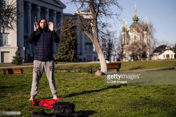 kyiv, ukraine. - muslim praying stock pictures, royalty-free photos & images