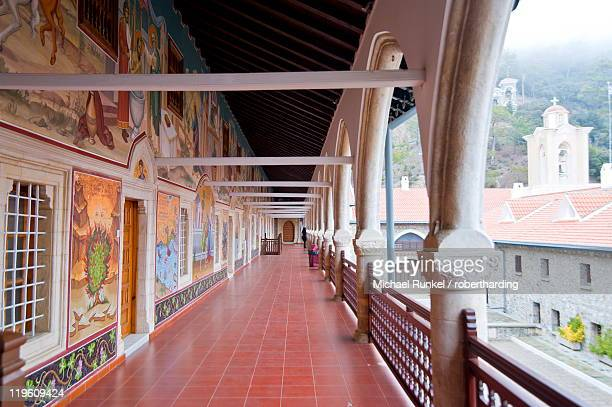 kykkos monastery, unesco world heritage site, troodos mountains, cyprus, europe - isola di cipro foto e immagini stock