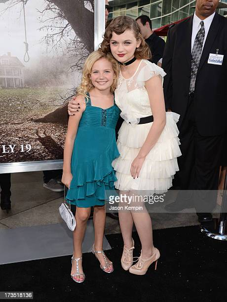 Kyla Deaver and Joey King attend the premiere of Warner Bros 'The Conjuring' at ArcLight Cinemas Cinerama Dome on July 15 2013 in Hollywood California