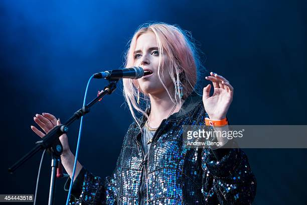 Kyla La Grange performs on stage at Bingley Music Live Festival at Myrtle Park on August 31, 2014 in Bingley, United Kingdom.