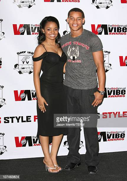 Kyla Pratt and Robert Ri'chard presenters during 3rd Annual Vibe Awards Press Room at Sony Studios in Culver City California United States