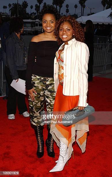Kyla Pratt and Sicily during 2003 VIBE Awards Arrivals at Civic Auditorium in Santa Monica California United States