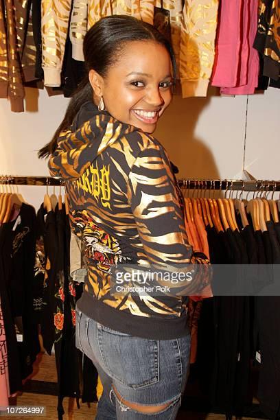 Kyla Pratt at the Ed Hardy Store Opening on December 1 2007 in Los Angeles California