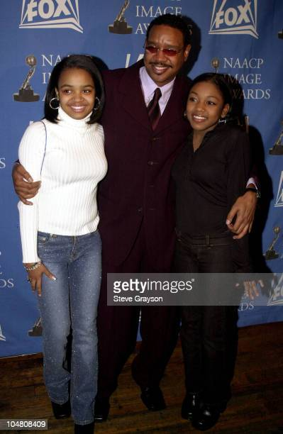 LR Kyla Pratt Dorien Wilson Ashley Monique Clark NAACP Image Award nominees pose for photographers at the nominations announcements for the 33rd...