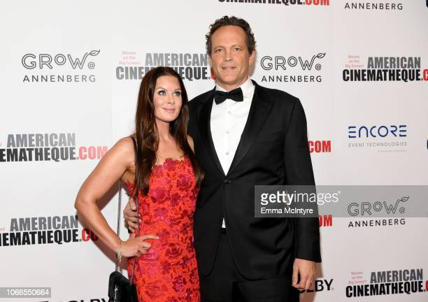 Kyla Vaughn and Vince Vaughn attend the 32nd American Cinematheque Award Presentation honoring Bradley Cooper at The Beverly Hilton Hotel on November...