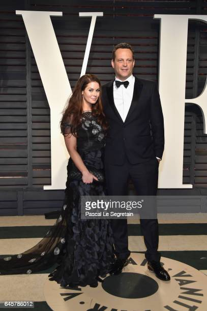 Kyla Weber and actor Vince Vaughn attend the 2017 Vanity Fair Oscar Party hosted by Graydon Carter at Wallis Annenberg Center for the Performing Arts...