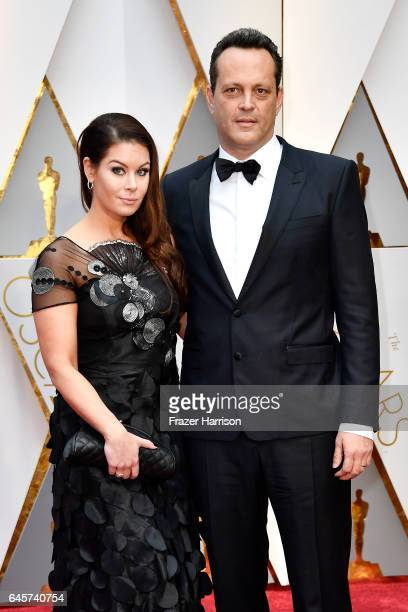 Kyla Weber and actor Vince Vaughn attend the 89th Annual Academy Awards at Hollywood Highland Center on February 26 2017 in Hollywood California