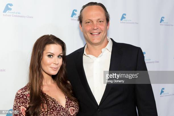 Kyla Weber and Vince Vaughn attend the Saban Community Clinic's 50th Anniversary Dinner Gala at The Beverly Hilton Hotel on November 13 2017 in...