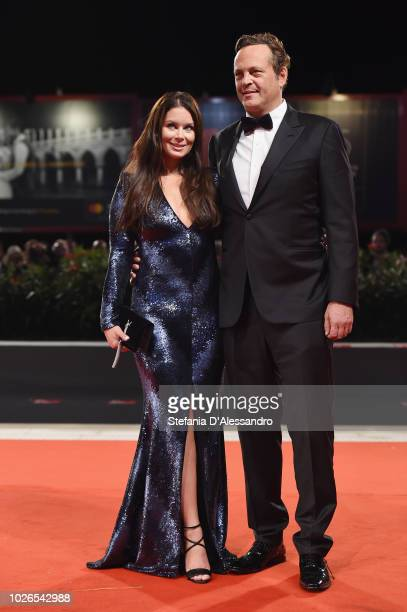 Kyla Weber and Vince Vaughn walk the red carpet ahead of the 'Dragged Across Concrete' screening during the 75th Venice Film Festival at Sala Grande...