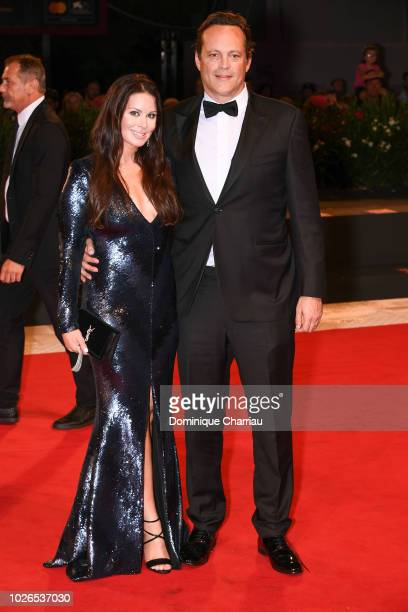 Kyla Weber and Vince Vaughn walks the red carpet ahead of the 'Dragged Across Concrete' screening during the 75th Venice Film Festival at Sala Grande...