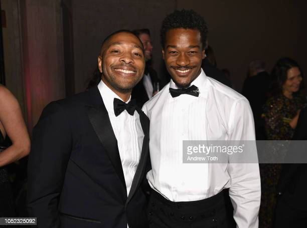 Kyle Abraham and David Adrian Freeland attend the 2018 Princess Grace Awards Gala at Cipriani 25 Broadway on October 16 2018 in New York City