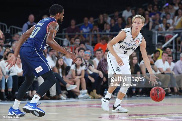 Kyle Adnam of Melbourne United in action during the round 11 NBL match between Melbourne United and the Adelaide 36ers at Hisense Arena on December...