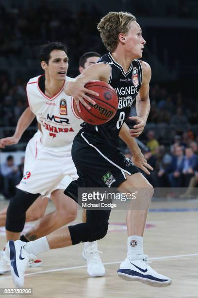 Kyle Adnam of United runs with the ball during the round eight NBL match between Melbourne United and the Illawarra Hawks at Hisense Arena on...