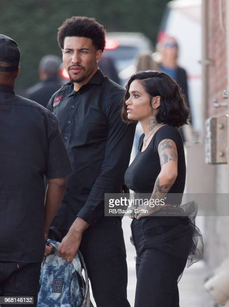Kyle and Kehlani are seen at 'Jimmy Kimmel Live' on June 05 2018 in Los Angeles California