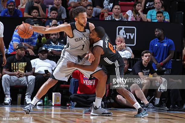 Kyle Anderson of the San Antonio Spurs drives to the basket against the Phoenix Suns during the Las Vegas Summer League Championship on July 20 2015...