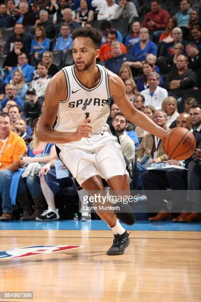 Kyle Anderson of the San Antonio Spurs handles the ball against the Oklahoma City Thunder on December 3 2017 at Chesapeake Energy Arena in Oklahoma...